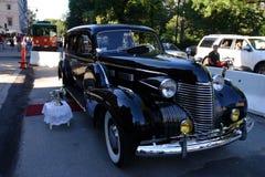 Image courante de voiture ancienne sur l'affichage photographie stock libre de droits