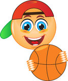 Sourire, basket-ball, boule Images stock