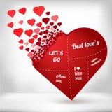 Image créative abstraite de vecteur de concept du coeur pour le Web et les applications mobiles d'isolement sur le fond Vecteur Image stock