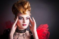 Image créative de maquillage et de sang de la reine mauvaise Images libres de droits