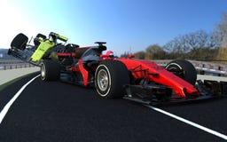 F1 sports car crash royalty free stock image