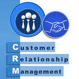 CRM  Blue Stock Photo