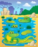 Image with crocodile theme 2 Stock Photo