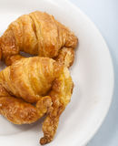 Croissant andcoffee. Image of Croissant and coffee Royalty Free Stock Images