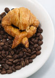 Croissant andcoffee. Image of Croissant and coffee Royalty Free Stock Image