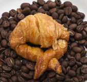 Croissant andcoffee. Image of Croissant and coffee Stock Image