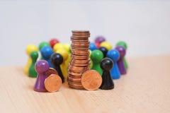 Image crowdfunding espiègle photographie stock