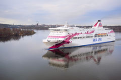 image of a cruise ship near Stockholm Royalty Free Stock Photography