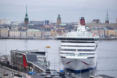 Image of a cruise ship near Stockholm Royalty Free Stock Photo
