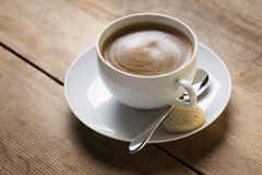 Image of a cup of coffee on a suacer Royalty Free Stock Images