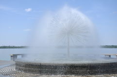 Image of the current fountain Royalty Free Stock Images