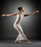 Image of curvy ballerina posing in erotic negligee Stock Images