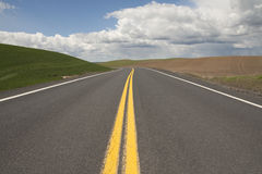 Image of curvy rural road Royalty Free Stock Photo