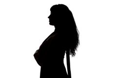 Image of curvy woman's silhouette in profile Royalty Free Stock Images