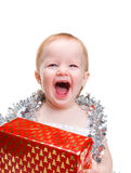 Image  cute baby with Christmas Stock Images
