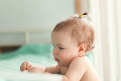 Image of cute baby girl, closeup portrait Royalty Free Stock Photos