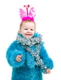 Image  cute baby with  holiday decoration Stock Images