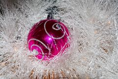 image, décorations rouges de Noël Photo stock