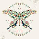 Image décorative d'un papillon Photographie stock libre de droits