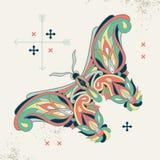 Image décorative d'un papillon Photographie stock