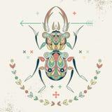 Image décorative d'un scarabée Image libre de droits