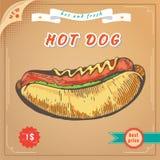 Image d'aliments de préparation rapide Bannière de hot-dog Image libre de droits