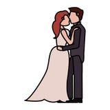 image d'amour de mariage de couples Image stock