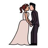 image d'amour de mariage de couples Photographie stock libre de droits