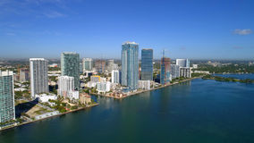 Image d'antenne d'Edgewater Miami Image stock