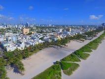 Image d'antenne de Miami Beach la Floride Photographie stock libre de droits