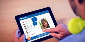 Image 3d composée d'interface d'application de causerie Image stock