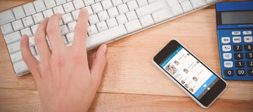 Image 3d composée d'interface d'application de causerie Photos libres de droits