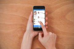 Image 3d composée d'interface d'application de causerie Images libres de droits