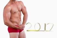 image 3D composée de bodybuilder Photographie stock libre de droits