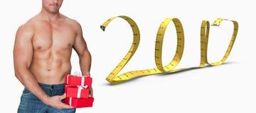 image 3D composée de bodybuilder attirant Photographie stock libre de droits