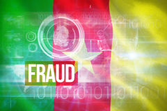 Image 3d composée de drapeau national digitalement produit du Cameroun photos stock