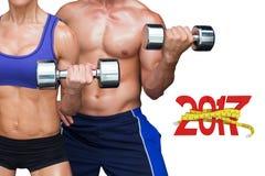 image 3D composée des couples de bodybuilding Photos libres de droits