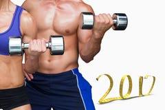 image 3D composée des couples de bodybuilding Images stock