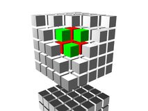 Image. 3d cube 05 Royalty Free Stock Photos