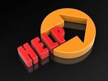 image 3d d'aide de Word Image libre de droits