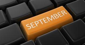 image 3d de concept clé de septembre Photo stock
