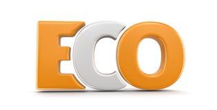 image 3d de texte d'Eco Image libre de droits