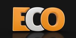 image 3d de texte d'Eco Photographie stock libre de droits