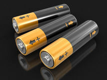 image 3d des batteries Photo libre de droits