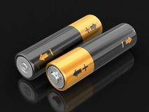 image 3d des batteries Images libres de droits