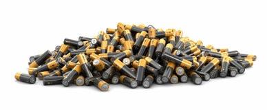 image 3d des batteries Image libre de droits
