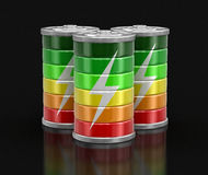 image 3d des batteries Photos stock