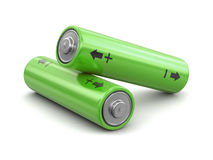 image 3d des batteries Images stock