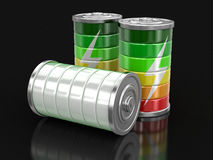 image 3d des batteries Photographie stock libre de droits