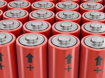 image 3d des batteries Photo stock